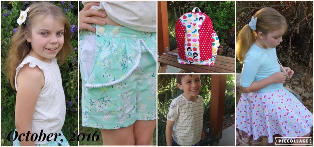 girls tee, flutter sleeve, jaunty dress, tadah patterns, pandalicious, art gallery fabrics, peg shorts, kawaii ruffle, slim fit tee, boys tee, tadah organic knits, bazinga backpack, backpack, flosstyle
