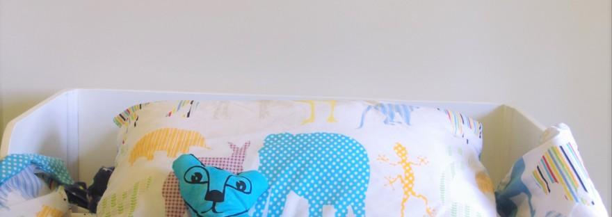 lion cub pattern hack; softie to cushion; one thimble